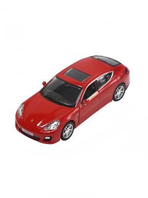 Машинка Инерционная Porsche Panamera Turbo, Красная (1:32) (PS-554002-R) Pit Stop. Цвет: красный