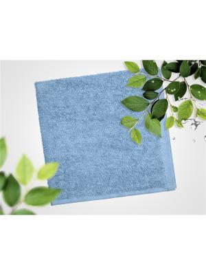 Набор из 4х махровых полотенец голубой - 40*40, УзТ-НПБ-100-06 Aisha. Цвет: голубой