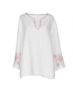 Блузка PUROTATTO. Цвет: белый