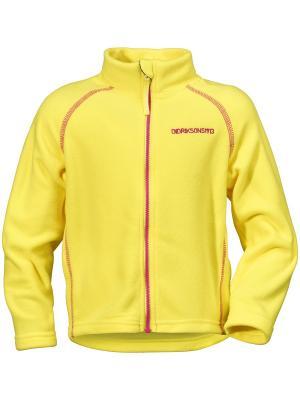 Куртка MONTE DIDRIKSONS. Цвет: светло-желтый,желтый