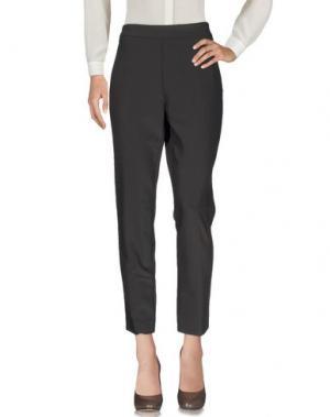 Повседневные брюки PAOLA ROSSINI. Цвет: темно-коричневый