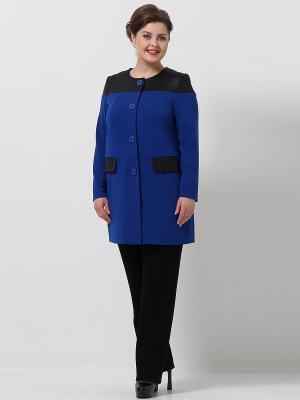 Пальто Lina. Цвет: синий