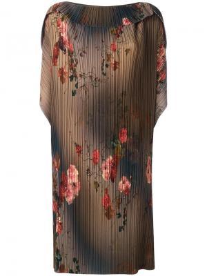 Платье с плиссировкой Antonio Marras. Цвет: зелёный