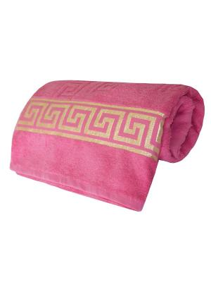 Полотенце махровое,  дизайн GREK Logo, 70х140 Dorothy's Нome. Цвет: сиреневый