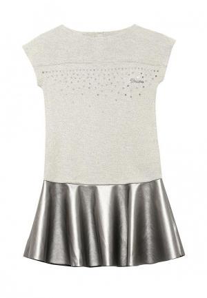 Платье Brums. Цвет: бежевый