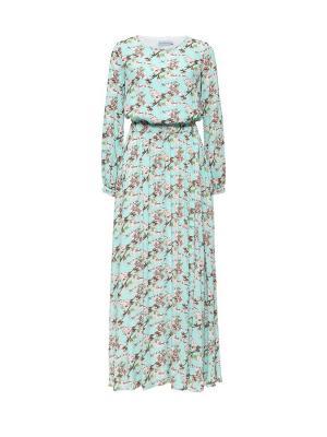 Платье летнее из штапеля с пышной юбкой мятное Bella kareema