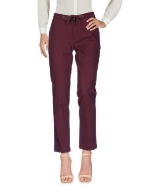 Повседневные брюки SWILDENS. Цвет: баклажанный