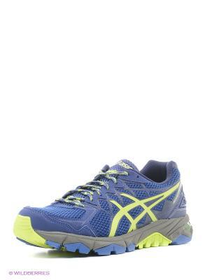 Кроссовки GEL-FujiTrabuco 4 ASICS. Цвет: синий, зеленый, черный