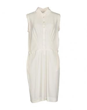 Короткое платье BARBA Napoli. Цвет: слоновая кость