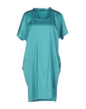 Короткое платье NEW YORK INDUSTRIE. Цвет: бирюзовый