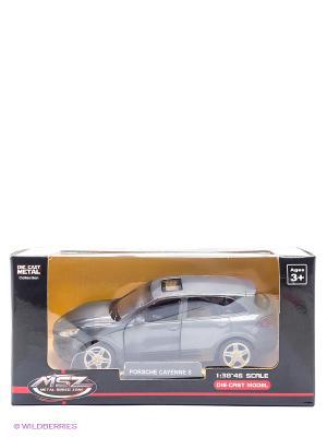 Машинка инерционная, металл, Porsche Cayenne S, 1:43, серый Blue Sea. Цвет: серый