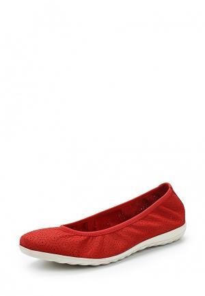 Балетки Caprice. Цвет: красный