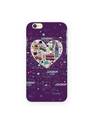 Чехол для IPhone 6 London - фиолетовое сердце Mitya Veselkov. Цвет: фуксия