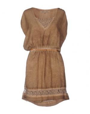 Короткое платье LA FEE MARABOUTEE. Цвет: хаки