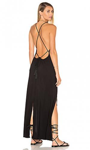 Макси платье spark Indah. Цвет: черный