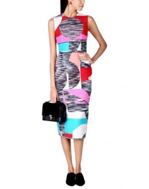 Платье длиной 3/4 ROKSANDA. Цвет: стальной серый