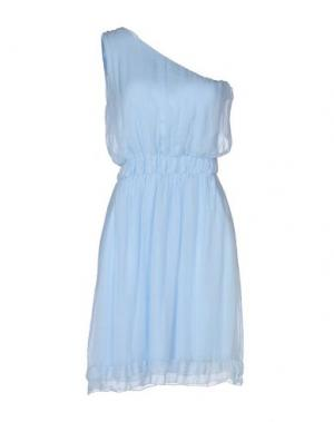 Короткое платье CHILI PEPPERS. Цвет: небесно-голубой