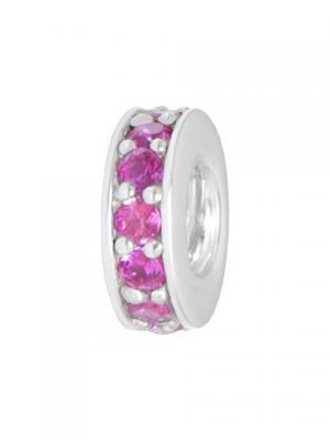 Разделитель с кристаллами розовый Sun&Moon Charm. Цвет: серебристый