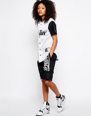 Ichiban Удлиненные баскетбольные шорты с логотипом. Цвет: черный
