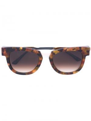 Солнцезащитные очки в квадратной оправе Thierry Lasry. Цвет: жёлтый и оранжевый