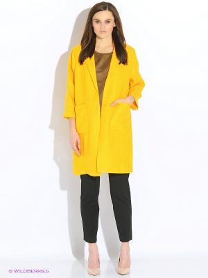 Пальто INCITY. Цвет: желтый