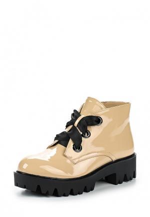 Ботинки GLAMforever. Цвет: бежевый