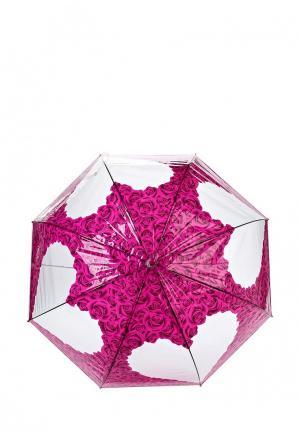 Зонт-трость Flioraj. Цвет: розовый