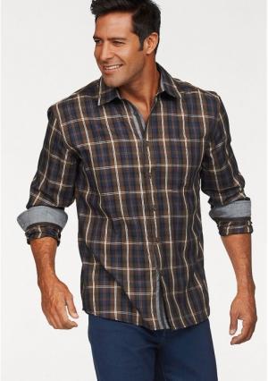 Рубашка MANS WORLD MAN'S. Цвет: коричневый/синий