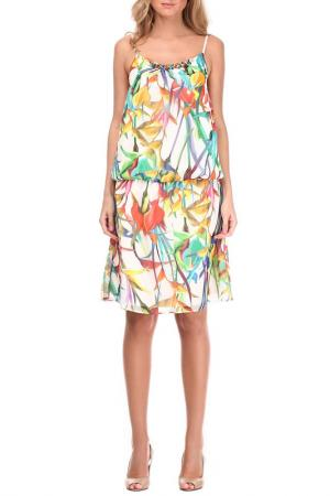Платье Sassofono. Цвет: мультицвет