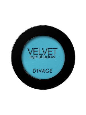 Матовые одноцветные тени для век VELVET тон 7314 DIVAGE. Цвет: голубой