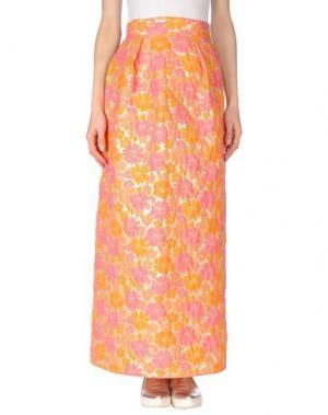Длинная юбка PAOLA FRANI. Цвет: оранжевый