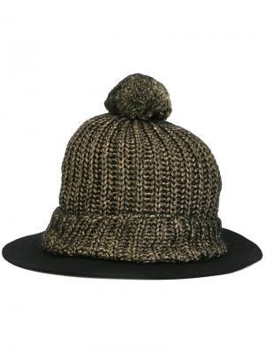 Шапка-бини с широкими полями Super Duper Hats. Цвет: чёрный