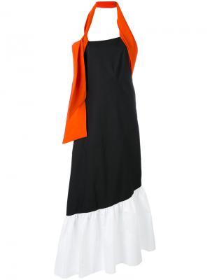 Длинное платье халтер Isa Arfen. Цвет: none