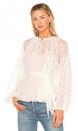 Блузка со шнуровкой plume Lover. Цвет: ivory