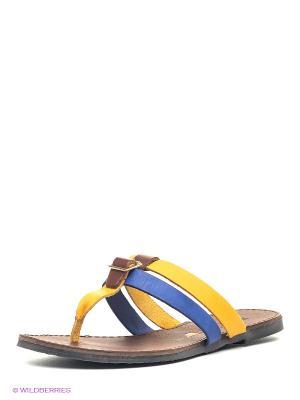 Пантолеты EVITA. Цвет: желтый, темно-синий