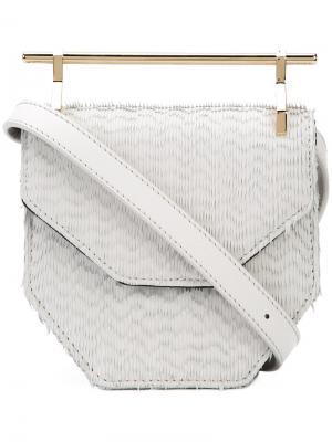 Amor/Fati crossbody bag M2malletier. Цвет: белый