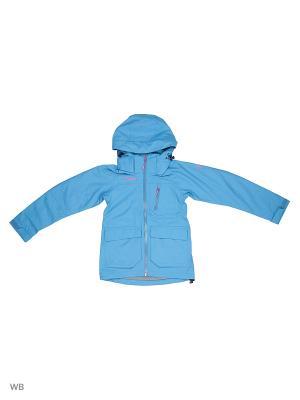 Куртка Bergans. Цвет: бирюзовый, серо-голубой
