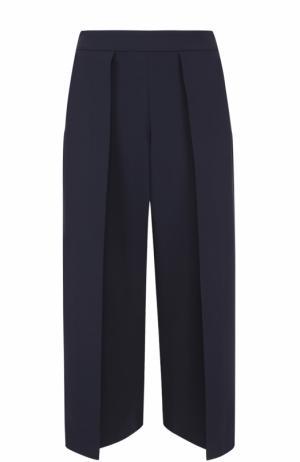 Укороченные широкие брюки с защипами Rag&Bone. Цвет: темно-синий