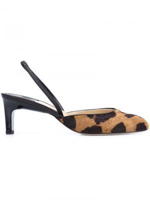 Туфли с анималистичным рисунком Paul Andrew. Цвет: коричневый