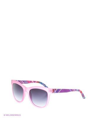 Солнцезащитные очки TOUCH. Цвет: розовый