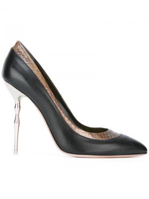 Туфли с заостренным носком Francesca Mambrini. Цвет: чёрный