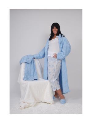 Пижама с майкой La Pastel. Цвет: голубой, белый