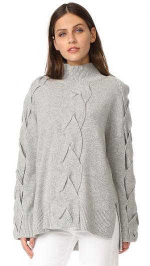 Связанный косичками свитер Robert Rodriguez. Цвет: цвет слоновой кости/светло-серый