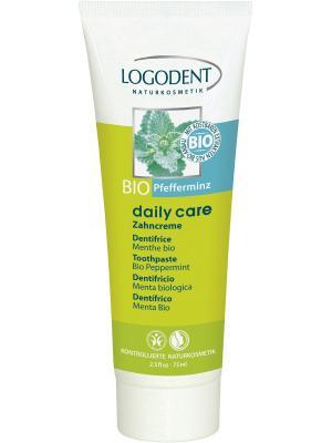 Logona Daily Care Зубная паста с Био-Мятой перечной. Цвет: бежевый