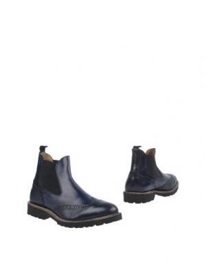 Полусапоги и высокие ботинки P. PROJECT. Цвет: темно-синий
