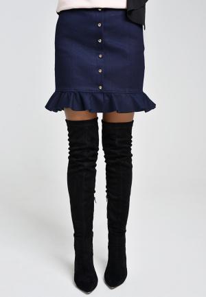 Юбка джинсовая Elena Andriadi. Цвет: синий