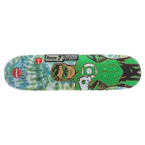 Дека для скейтборда  S5 Youness Green Lantern Tiedye R7 31.7 x 8.25 (21 см) Almost. Цвет: зеленый