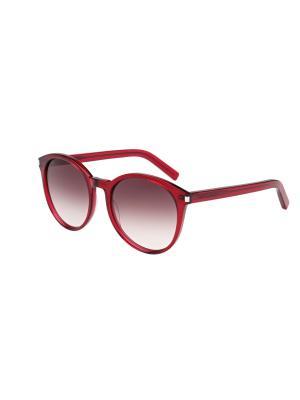 Солнцезащитные очки Saint Laurent. Цвет: красный