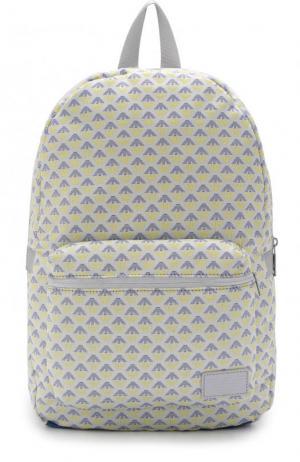 Текстильный рюкзак с принтом Armani Junior. Цвет: белый
