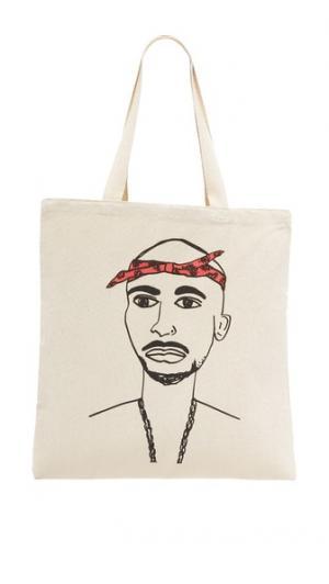Объемная сумка с короткими ручками Tupac Zhuu
